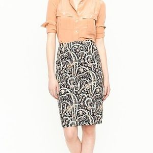 J.Crew No. 2 Pencil Skirt in Feather Paisley